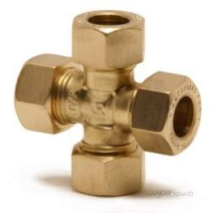 Kuterlite 600 Range Compression Fittings -  Pegler Yorkshire K623 22x22x22x22 Cross