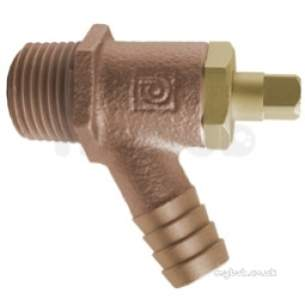 Safety Valves and Do Cocks -  1/2 Inch Bmt Plug Drain Cock Type A 833