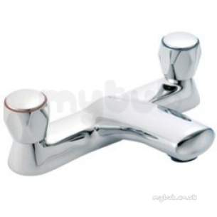 Pegler Mercia Brassware -  Mercia Modern Bath Filler Chrome