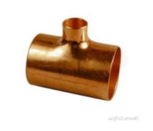 Yorkshire Degreased Endbraze Fittings -  Endbraze Degreased N25 Red Tee 76x76x35