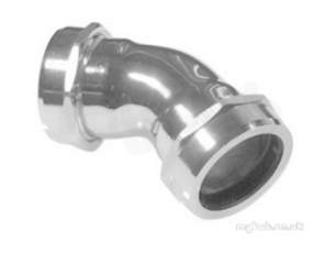 Yorkshire Kuterlite 600 Range -  Kw652cp 54 Chrome Obtuse Elbow 63030