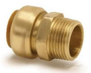 Yorkshire Tectite Fittings -  Pegler Yorkshire T3/t243g 12x1/2 Male Coupling
