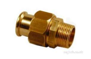 Yorkshire Pressfit Fittings -  S69 15mm X 1/2 Inch Mi Xpress Male Union Conn