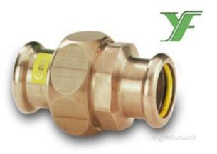 Yorkshire Pressfit Fittings -  Sg11 22mm Gas Xpress Union Coupling