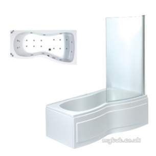 Phoenix Whirlpool Baths -  A Rimini 1700 Bath Rh C/w Screen Sys 1 Wh