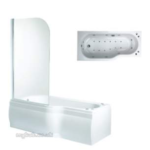Phoenix Whirlpool Baths -  150 Mini Space Bath R/h C/w Panels And Screen
