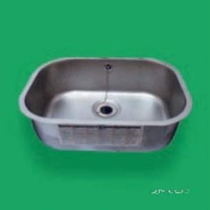 Pland Catering Sinks and Stands -  Pland 508 X 356 X180 Flat Flange Bowl Ss Fflar27sn