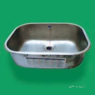 Pland Catering Sinks and Stands -  508 X 356 X250 Inset Self Rimmed Bowl Ss