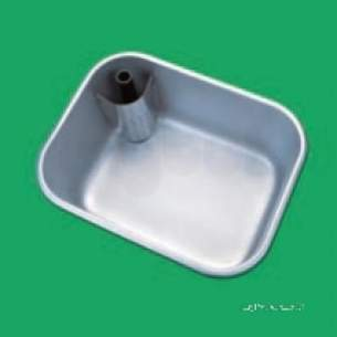 Pland Catering Sinks and Stands -  Pland 610 X 457 X300 Large Flat Flange Bowl Ss