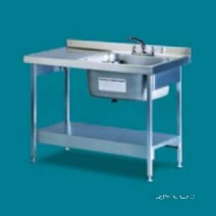 Pland Catering Sinks and Stands -  Pland 1200 X 650 Lh Catering Sink Plus Legs