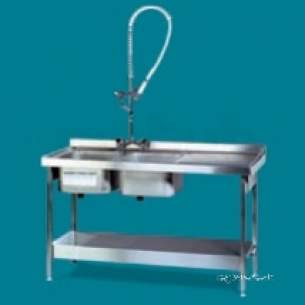 Pland Catering Sinks and Stands -  Pland 1800 X 600 Catering Dbdd Sinkandstd Ss