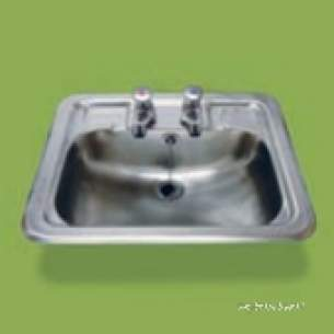 Pland Catering Sinks and Stands -  Pland 486x380 X 150 Luxery Inset W/basin Ss