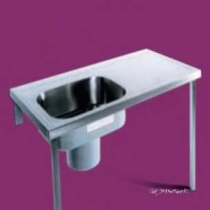 Pland Catering Sinks and Stands -  1200 X 600 Htm64 Lhd Plaster Sink Ss