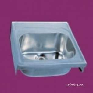 Pland Catering Sinks and Stands -  Sk1 Hospital Sink Unit No Taps C/w Brackets