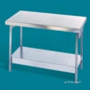 Pland Catering Sinks and Stands -  1500 X 600 Island Table Plus Stand And U/shelf