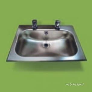 Pland Catering Sinks and Stands -  Pland Economy Inset Washbasin Ss