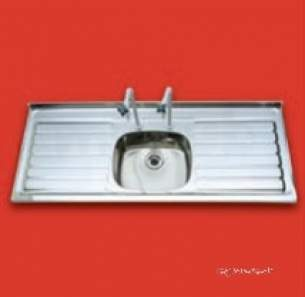 Pland Catering Sinks and Stands -  965x525 316 Grade Lab Inset Sink Rhd Ss