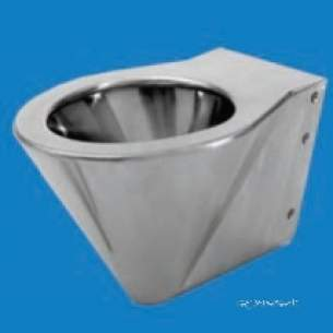 Pland Commercial Stainless Steel -  Pland Back To Wall Shrouded Wc Pan