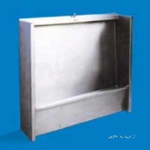 Pland Commercial Stainless Steel -  Pland 1200mm Flr Standing Slab Urinal Ss