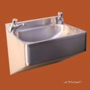 Pland Catering Sinks and Stands -  Face Fixing Security W/basin C/w Waste Ss