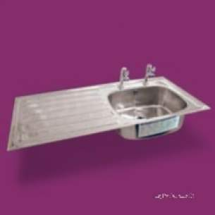 Pland Catering Sinks and Stands -  1364x500 Htm64 Hosp Inset Db Sink Rhd Ss