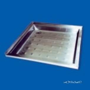 Pland Commercial Stainless Steel -  Pland 750 X 750 X 75 Shower Tray Ss