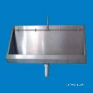 Pland Commercial Stainless Steel -  Pland 2400mm Wall Mounted Economy Urinal