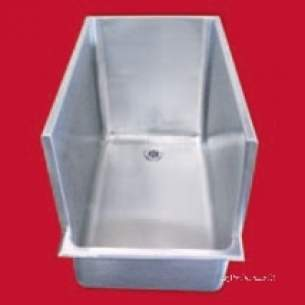 Pland Commercial Stainless Steel -  600 X 500 X 450mm Bute Dog Bath Ss
