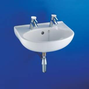 Armitage Shanks Commercial Sanitaryware -  Armitage Shanks Portman S2260 600mm 2th Basin And O/f And Chn Wh