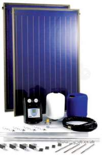 Baxi Potterton Solar Heating Systems -  Potterton 2 Panel On Roof Slate And Tile