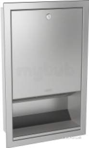 Sissons Stainless Steel Products -  Rodan Recess Paper Towel Dispenser