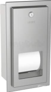 Sissons Stainless Steel Products -  Rodan Recess Toilet Roll Dispenser