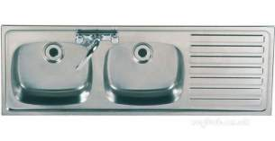 Sissons Stainless Steel Products -  Sissons F0313 Dbsd Rh Inset Sink Ss