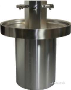 Sissons Stainless Steel Products -  Round Washtrough 6 Person Non Con Taps