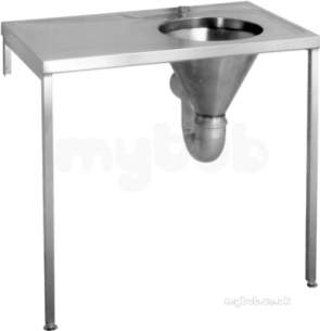 Sissons Stainless Steel Products -  Hospital Duh Slop Hopper 1000 X 600 Lh