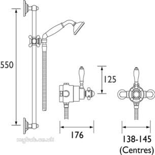 Gummers Commercial Showers -  Sirrus Ts1850acp Exp Dc Valve And 5 Inch Rose Cp