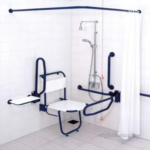 Gummers Commercial Showers -  Sirrus Docm1b Docm Showering Pack Blue