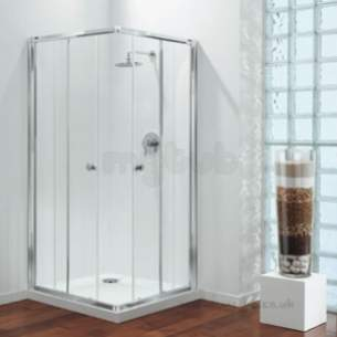 Coram Premier Shower Enclosures -  Premier 900mm C/entry 2-box Wh/cl/pl