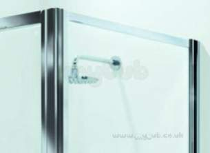 Coram Premier Shower Enclosures -  Premier 900mm Side Panel Wh/cl/st