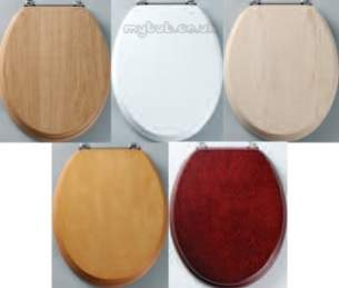 Roper Rhodes Toilet Seats -  Roper Rhodes Premier Seat Natural Oak Chrome Bar