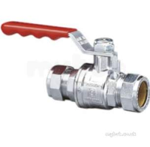 Prestex Pb300 Brass Cxc Ball Valves -  Prestex Pb300 Cxc Brass Ball Valve Red 28