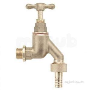 Pegler Commercial and Specialist Brassware -  Prestex 141hu Brass Hose Union B/tap 1/2