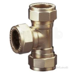 Prestex Compression Fittings -  Pegler Yorkshire Prestex Dr50 42mm Equal Tee
