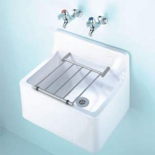 Armitage Shanks Commercial Sanitaryware -  Armitage Shanks Birch S591501 455mm X 380mm Cleaners Sink Wh