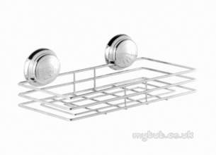 Croydex Bathroom Accessories -  Twist N Lock Qm320641 Large Shelf