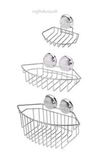 Croydex Bathroom Accessories -  Twist N Lock Qm340041 3 Pce Basket Set