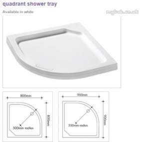 Manhattan Shower Enclosures -  Manhattan Duralite V2 800mm Quad Tray