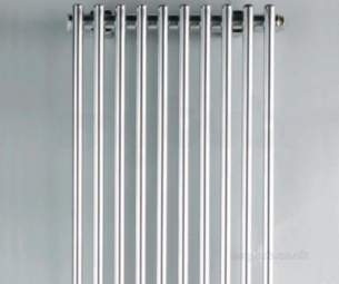 Quinn Plaza Designer Towel Rails -  Quinn Plaza Vertical 2000x481mm Qplv02w White