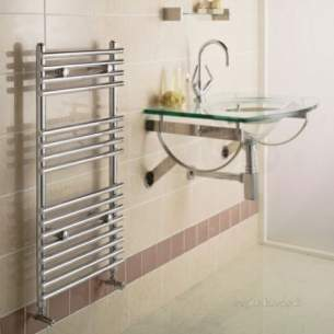 Quinn Topaz Designer Towel Rails -  Quinn Topaz Straight 900x450mm Qrp3 Chrome
