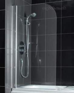 Eastbrook Showers -  69.702 Radius Corner Screen Silver